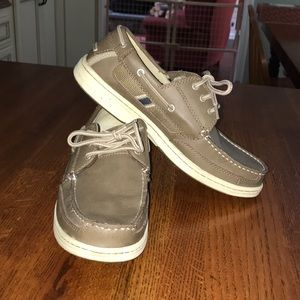 Men's Bass leather boat shoes